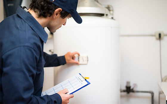 Checking water heating system